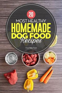 Most Healthy Homemade Dog Food Recipes. Homemade dog food offers canines with well-rounded nutrition in any circumstance, but it is particularly beneficial for special needs dogs. Dogs with kidney disease, heart disease, obese dogs, and dogs with liver co Home Cooked Dog Food, Food Dog, Make Dog Food, Homemade Food For Dogs, Puppy Food, Home Food, Dog Treat Recipes, Healthy Dog Treats, Snacks