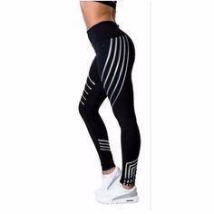14ecce4678de95 2018 New Women Fitness Leggings Color Block Autumn Workout Pants Mesh Insert  Sporting Leggings