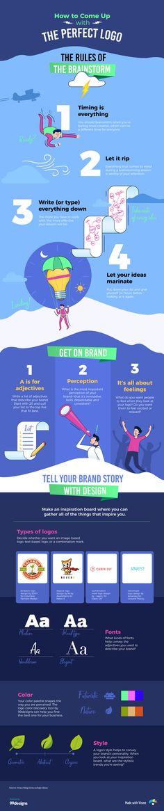 How to Brainstorm Creative Logo Ideas [Infographic] Visual Learning Center by Visme Web 2.0, Le Web, Logo Design Services, Branding Design, Branding Ideas, Create A Company Logo, Innovative Logo, Web Design, Design Trends