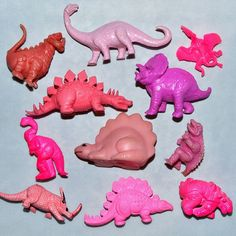 Collection of Pink Dinosaurs