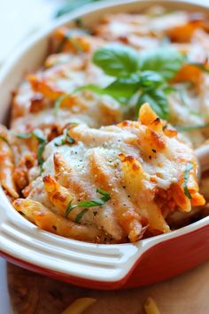 Red Pepper Pasta Bake by damndelicious: Family friendly, 10 minute prep. #Pasta #Red_Pepper #Easy