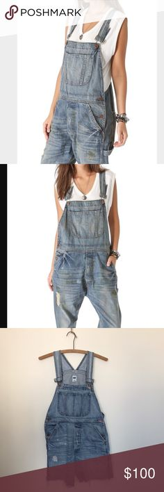 Cut-off NSF Buddy overalls Small These NSF overalls are perfect for spring and summer! All the distressing was factory original aside from the fact that they were turned into shorts! Perfect shape and super cute!!☀️ NSF Jeans