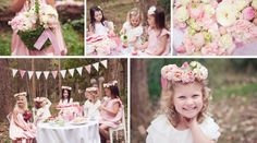 Whimsical Tea Party. I can't wait to have girls to do this with!