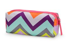 Chevron Pencil Cosmetic Case Monogrammed Dots Teen Cute Tween Personalized Party Favor Gift. $8.59, via Etsy.