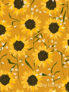Sunflower Summer Floral By Joy Laforme