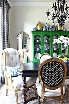 Eclectic Dining Room Awesome Glam Dining Space  Eclectic  Dining Room  Imagesamanda Design Ideas