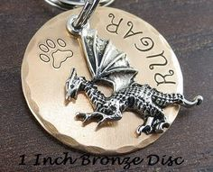 personalised sterling silver dog name tag by merry dogs