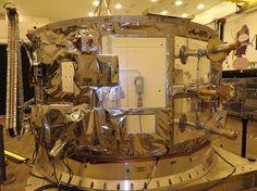 The service module for Orbital ATK's next Cygnus supply ship, at Wallops Island, Virginia. Credit: Orbital ATK