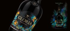 Gloria Brandy Black Edition — The Dieline - Package Design Resource
