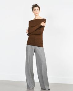 Image 1 of BOAT NECK SWEATER from Zara