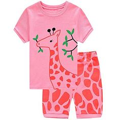 Family Feeling Deer Little Girls' Short Pajamas Cotton Clothes Cotton Machine wash Imported Soft, cute Sleep set includes Short sleeve sleep tee and matching sleep bottoms. Pajama Outfits, Pajama Shorts, Girl Outfits, Girls Sleepwear, Sleepwear Sets, My Baby Girl, Baby Girls, Girls 4, Toddler Girls