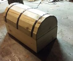 chap 2 Storage chest bound with iron bands for securing valuables Woodworking Box, Woodworking Projects, Wooden Diy, Wooden Boxes, Wood Shop Projects, Diy Projects, Pirate Treasure Chest, Trunks And Chests, Wood Chest