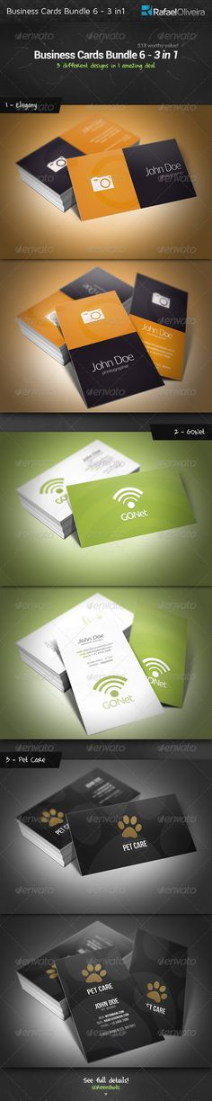 Business Cards Bundle 6 - 3 in 1