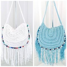 Festival Crochet Handbag Tutorial By AnnooCrochet Designs