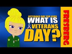 What is Veterans Day? Watch as Ms. Melanie teaches Chillz about the history of Veterans Day for kids and how it started with Armistice Day. Here she talks about the day in November that the United States honors veterans and the difference between Veterans Day and Memorial Day in our quick video.   Follow us on Social Media: http://www.facebook.com/fresbergcartoon http://www.twitter.com/fresbergcartoon http://www.Instagram.com/fresbergcartoon  http://www.youtube.com/fresbergcartoon