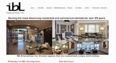 New website for a TOP Commercial Interior Designer. http://www.iblenterprisesinc.com/