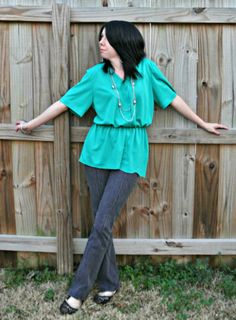 This girl does some awesome stuff taking thrift store clothes and re-doing them