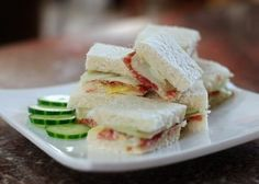 Traditionally, cucumber sandwiches are a bread-butter-and-cucumber affair. As plain and as simple as that may sound, the panache is in the execution.