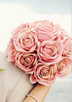 blush pink wedding bouquet