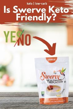 How well do Swerve and keto go together? When you need a little sweetness, you may consider using low-carb sweeteners. Maybe even Swerve? Low Carb Food List, Low Carb Meal Plan, Low Carb Lunch, Low Carb Dinner Recipes, Low Carb Breakfast, Breakfast Recipes, Sugar Free Sweets, Low Carb Sweets, Snacks Recipes
