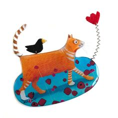 RESIN DAY TRIPPER CAT BROOCH Donia, Happy Shopping, Rooster, Resin, Fall Winter, Kids Rugs, Brooch, Buttons, Cats