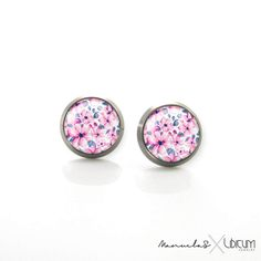 Pure Anium Jewelry Earrings For Sensitive Ears Fl Spring Pastel Pink Flowers Hypoallergenic Studs Stud