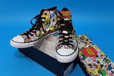 ba49798e4a3 NWB Converse CHUCK TAYLOR ALL STAR  LOONEY TUNES  Multi-Color Men 9 Women  11  Converse  TennisShoes