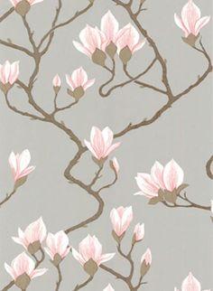 Magnolia - Designtapete von Cole and Son - Grau