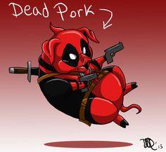 Deadpool As A Pig. (DeadPork)