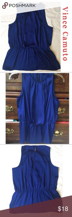 Vince Camuto Royal Blue Woman's Sleeveless Top Vince Camuto Royal Blue Woman's Sleeveless Top. Size medium. Very lightweight and beautiful fabric. Great for those warm nights, in the office or out cruising the town. Vince Camuto Tops Blouses