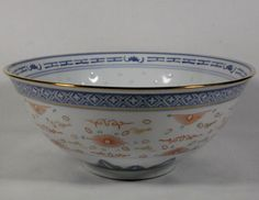 Vintage Multicolored Rice Pattern Chinese by treasures1st on Etsy