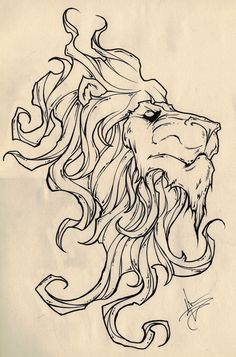 King of the Jungle by ShawnCoss on DeviantArt Big Cats Art, Cat Art, Jungle Tattoo, Trippy Drawings, Medusa Tattoo, Fairy Tattoo Designs, Drawing Sketches, Sketch 2, Coloring Book Pages