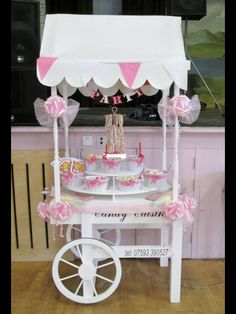 Our small candy cart for a children's party, available to hire