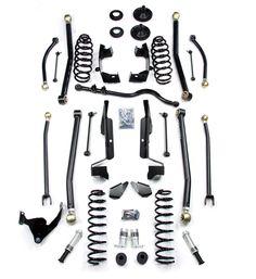 "TERAFLEX JK 4 Door 2.5"" Elite LCG Long FlexArm Lift Kit w/ SpeedBumps - SKU: 1257290"