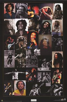 Bob Marley Rasta Reminiscence Collage Mucis Poster 24x36