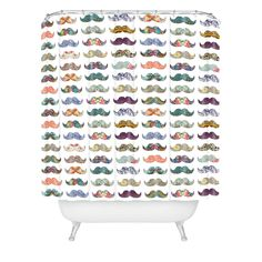 Bianca Green Mustache Mania Shower Curtain   DENY Designs Home Accessories