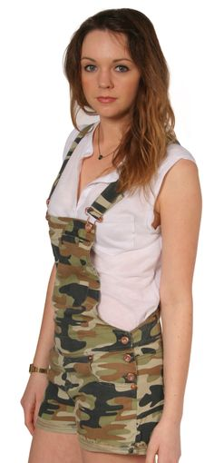 02095ee8dae Trendy camouflage dungaree shorts available in UK sizes 8-12  shortalls   shortdungarees from Dungarees-Online  dungareespecialists