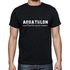 #sport #aquathlon #men #tshirt #black #exercise Your favourite sport is your passion and your obsession! Buy now -->