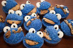 Cookie Monster Cupcakes!