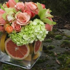 Royal Bloom Love the use of pink grapefruit!!