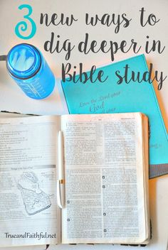 I'm sharing 3 new ways to dig deeper into Bible study. Just you, your Bible and God teaching the lessons. Bible Study Plans, Bible Study Tips, Bible Study Journal, Scripture Study, Bible Lessons, Scripture Journal, Faith Scripture, Math Lessons, Art Journaling