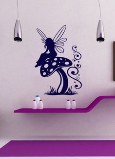 Housewares Vinyl Decal Fairy Elf On Mushroom Girl Nursery Home Wall Art Decor Removable Stylish Sticker Mural Unique Design for Room, http://www.amazon.com/dp/B00FFXME4C/ref=cm_sw_r_pi_awdm_DwY2tb1SECXW5