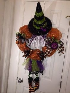Halloween Wreath, Oz, Wicked Witch, Hand Crafted