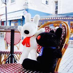 4/29今日のリサとガスパール http://parismag.jp/ #休憩タイム! #pause #カフェ #café #パリの散歩道  #PARISmag #パリマグ #paris #パリ #France #フランス #パリの住人 #リサとガスパール #GaspardetLisa