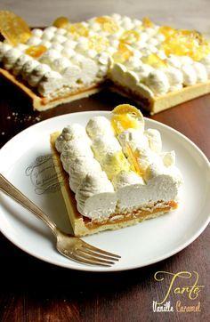 Recette de tarte à la vanille et au caramel                                                                                                                                                                                 Plus
