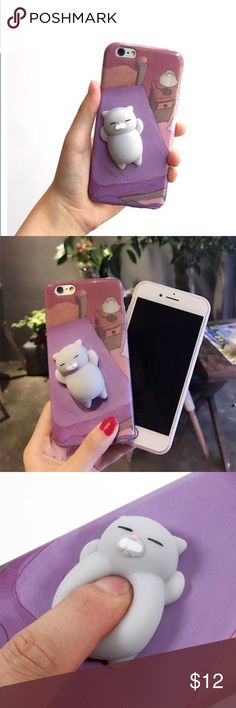 For iPhone 7 plus case-3D squishy cat cute case For iPhone 7 plus case-3D squishy cat cute animal case  * Made with soft TPU material * Maximum protection for front screen * Pressure relief3D soft squishy animal Accessories Phone Cases