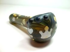 Glass Pipe Sandblasted Queen of Hearts