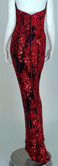 Bob Mackie - Créateur de Mode - Robe Fourreau 'Grappes de Raisin' - Années 90
