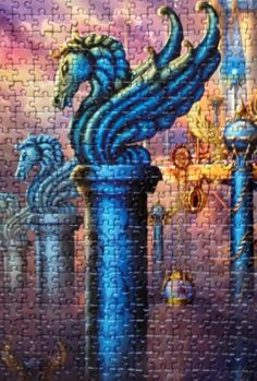 Details from City of swords Ciro Marchetti puzzle 1000 pieces by Spielspass