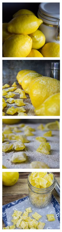 When life gives you lemons.... Make candy out of them! Lemon Drop Candies | SouthernFATTY.com